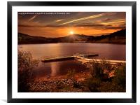 Last light over the Valley, Framed Mounted Print