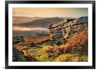 Mists in the Valley, Framed Mounted Print