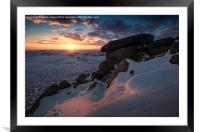 Last light over Higger Tor, Framed Mounted Print