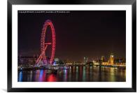 The London Eye and County Hall, Framed Mounted Print