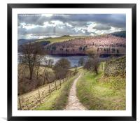 From Grindle Clough to Ladybower, Framed Mounted Print