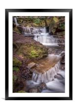 The Waterfalls of Lumsdale, Framed Mounted Print