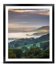 Towards Crook Hill, Framed Mounted Print