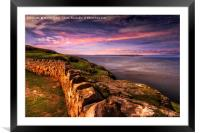 To Anglesey from the Great Orme, Framed Mounted Print