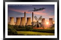 Vulcan XH558 in the Trent Valley, Framed Mounted Print