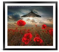 Olympus Thunder over the Poppies, Framed Mounted Print