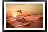 Panavia Tornado IDS Low Level Mission  Over Iraq, Framed Mounted Print