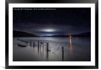 Looking South, down the measured Kilo at Coniston, Framed Mounted Print
