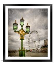 The Eye is the Lamp of the Body, Framed Mounted Print