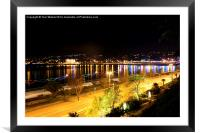 Torquay Strand, Framed Mounted Print