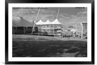 Cricket Ground Southampton Black And White, Framed Mounted Print