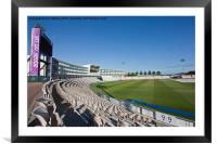 Cricket Pitch Southampton, Framed Mounted Print