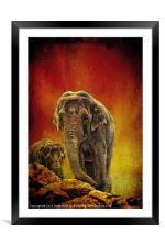 Escape from the edge., Framed Mounted Print