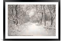 Snowy Walk, Framed Mounted Print