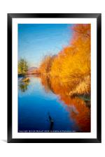 Winter Sun on the Aire, Framed Mounted Print