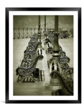 Misty Past Swanage Pier, Framed Mounted Print