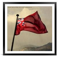 The Red Ensign, Framed Mounted Print