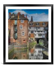 High Bridge, Lincoln, Framed Mounted Print