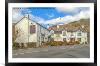 Black Bull Inn Coniston, Framed Mounted Print