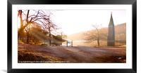 A memorial to a Lost Village, Framed Mounted Print