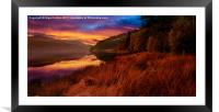 Sun Rise At Birchinlee, Framed Mounted Print