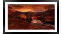 Sun Rise At Slippery Stones, Framed Mounted Print