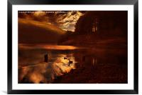 Ouzelden Night Fall, Framed Mounted Print