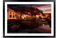 Polperro Habour, Framed Mounted Print