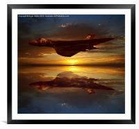 The Brilliant Vulcan XH558, Framed Mounted Print