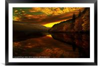 Derwent Glow, Framed Mounted Print