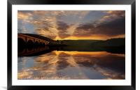 Sunrise Over Bamford Edge, Framed Mounted Print