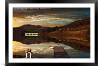 Crook Hill Reflections, Framed Mounted Print