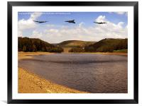 Three Over Howden, Framed Mounted Print