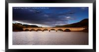 Two Over Ashopton, Framed Mounted Print