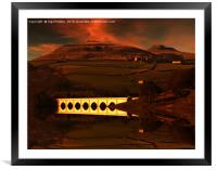 Crook Hill sunrise, Framed Mounted Print