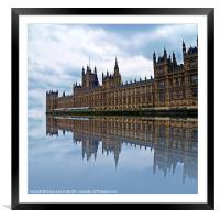 Westminster reflected, Framed Mounted Print