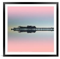 Pier Reflections, Framed Mounted Print