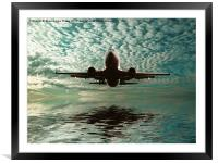 Flight path, Framed Mounted Print
