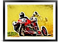 Right Hand sidecar outfit, Framed Mounted Print