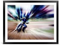 Warp speed, Framed Mounted Print