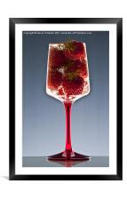 Fizzing Strawberries, Framed Mounted Print