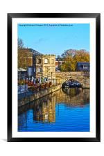 Stratford Bridge Reflection, Framed Mounted Print