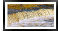Flow Of Gold, Framed Mounted Print