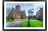 Carlisle Cathedral & Fratry, Framed Mounted Print