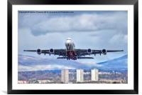 Emirates Take Off, Framed Mounted Print