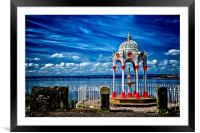 Victorian Drinking Fountain , Framed Mounted Print