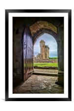 Crossraguel Abbey Tower House , Framed Mounted Print