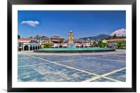 Marmaris Town Square, Framed Mounted Print