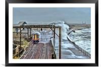 Train in the Storm, Framed Mounted Print