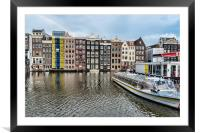 Amsterdam Townhouses , Framed Mounted Print